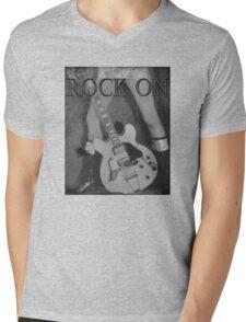 Rock On Tee Mens V-Neck T-Shirt
