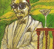 Sultan Natty-Boh Tries A Martini by Robert Votta