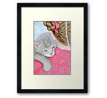 Cuddles! Framed Print