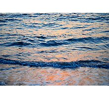 Sea and sunset Photographic Print