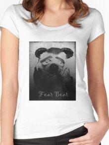 Fear Bear Tee Women's Fitted Scoop T-Shirt