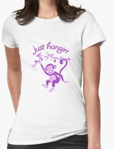 Just hangin' funky monkey T Womens Fitted T-Shirt
