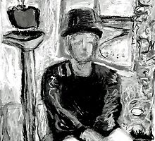 A sketch of an Aritst by Diane  Kramer