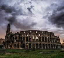 Storm over Colosseum by aaronchoi