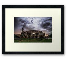 Storm over Colosseum Framed Print
