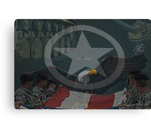 Army Parts Canvas Print