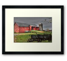 A Look into the Past Framed Print