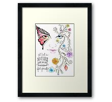 Lost in Nature Framed Print