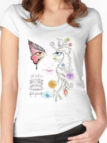Lost in Nature Women's Fitted Scoop T-Shirt