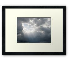 Rays Of Hope In A Stormy Sky Framed Print