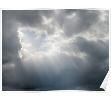 Rays Of Hope In A Stormy Sky Poster