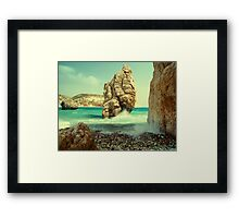 Aphrodite Rock, Cyprus Framed Print