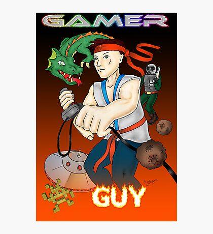 Gamer Guy Photographic Print