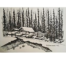 WHISPERING WINTER - Cabin in the Back Country Photographic Print