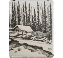 WHISPERING WINTER - Cabin in the Back Country iPad Case/Skin