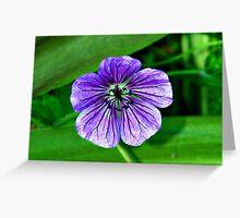 Purple Veins, Purple Veins Greeting Card