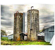 Old Grain Silos Poster