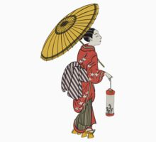 A Japanese woman from the Edo period Kids Tee