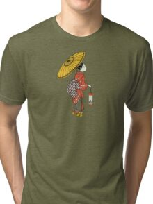 A Japanese woman from the Edo period Tri-blend T-Shirt