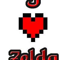 I Heart Zelda tee by epicgooner1