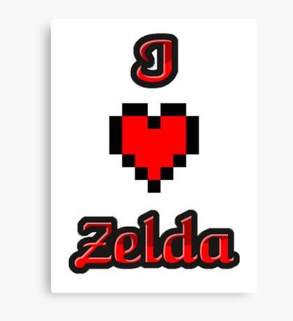 I Heart Zelda tee Canvas Print