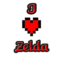I Heart Zelda tee Photographic Print
