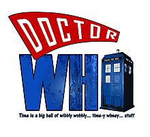 A Dr Who Logo Photographic Print