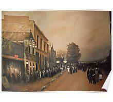 A Parisian Blvd at Sunset from Luigi Loir Poster
