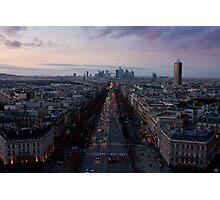 "Sunset on ""La Défense"" Photographic Print"