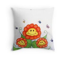 Flowers Smiling - Thinking of You Throw Pillow