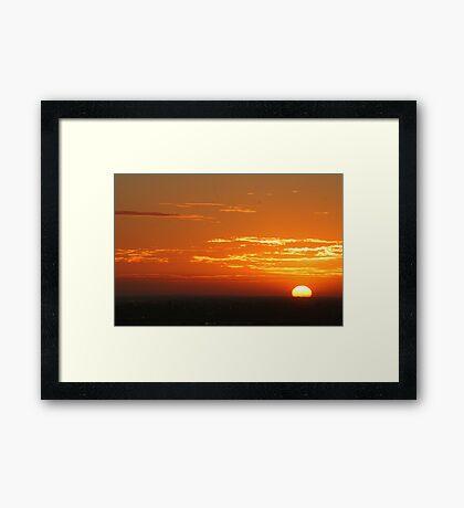 Sunset from Docklands Framed Print