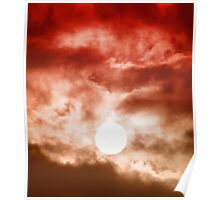 Red Cloudy Sunset Poster