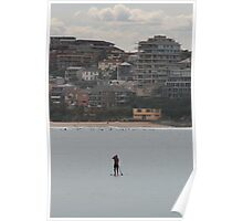 Standing around, @ Manly Beach  Poster