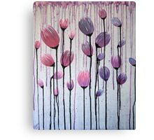 Drippy Tulips - Pink & Purple Canvas Print