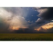 Light and Shadow on the Central Plains Photographic Print