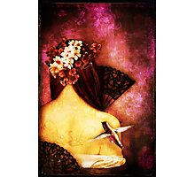 Girl With Hummingbird Photographic Print