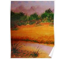 Country side, watercolor Poster