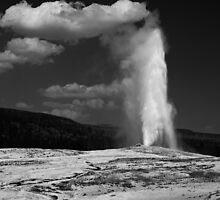 Old Faithful Touching The Clouds by JimGuy