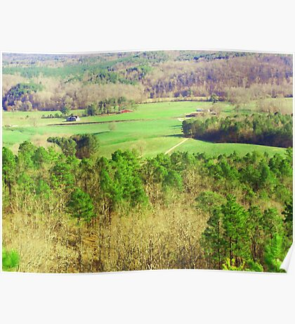 Down In the Valley (Backside View from Cheaha Poster