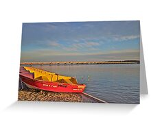 Boats for hire - Bribie Island Greeting Card