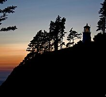 Heceta Head Lighthouse Sunset by LucyAbrao