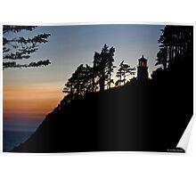 Heceta Head Lighthouse Sunset Poster