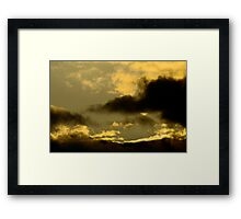 Cloudy Sky - Sunset Framed Print