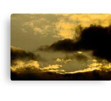 Cloudy Sky - Sunset Canvas Print