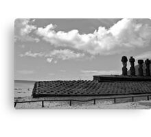 beachside location - relaxed Moai!!!! Canvas Print