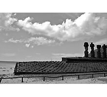 beachside location - relaxed Moai!!!! Photographic Print