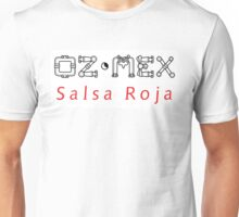 oz-mez-salsa-white-square Unisex T-Shirt