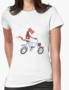 cyclist Womens Fitted T-Shirt
