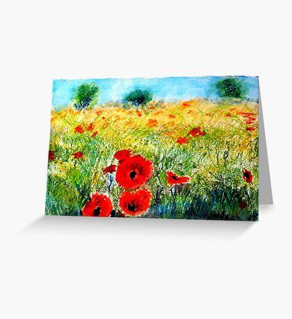 Adam Pearson's 'Poppy Field' Greeting Card