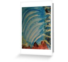 Watching  Waterfall from Topside, watercolor Greeting Card